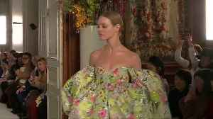 Valentino brings poetry to Paris with feast of flowers [Video]