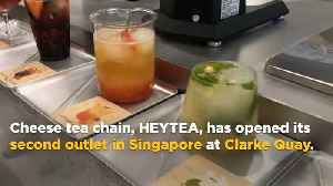 China's HEYTEA launches alcholic tea, ice cream in Singapore at Clarke Quay outlet [Video]