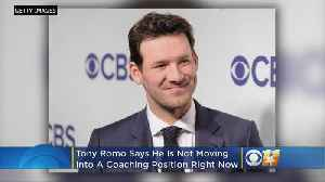 'I'm Really Happy Where I'm At': Color Analyst Tony Romo Not Considering Move To Coaching [Video]