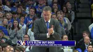 Cats make easy work on MSU [Video]