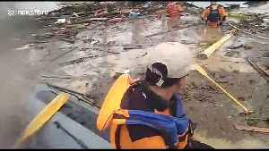 News video: Search and rescue efforts underway in the wake of deadly Indonesia floods