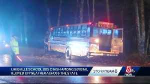 Bus crash among several blamed on weather [Video]