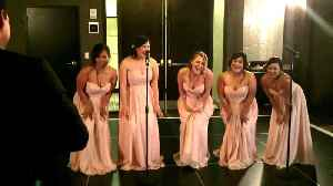 Bridesmaids speech delivered through epic parody song [Video]