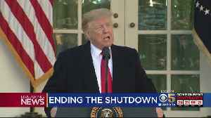 President Trump Announces Short-Term Deal To End Government Shutdown [Video]