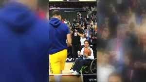 Stephen Curry gets memorable assist from a fan courtside during warmups [Video]