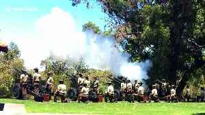 Australia Day marked in Perth with 21-gun salute [Video]