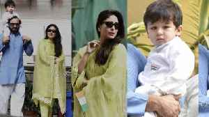 Kareena Kapoor, Saif Ali Khan hoist flag with son Taimur [Video]