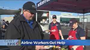 Airline Workers In Oakland Get Free Meal [Video]