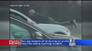 Man Clings To Hood During Mass Pike Road Rage [Video]