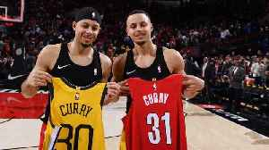 Steph Curry to Compete Against Brother Seth in All-Star Three-Point Shooting Contest [Video]