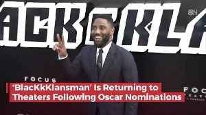 BlacKkKlansman Is Coming Back For A Second Round After Nominations [Video]