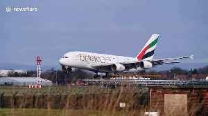 Pilot skilfully lands Airbus A380 despite near-50mph winds at Manchester Airport [Video]