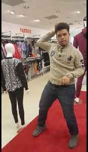 Down Syndrome man busts some amazing moves in UK shop [Video]