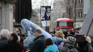 Anti-whaling activitists march to Japanese embassy in London [Video]