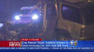 1 Dead After Crash Involving Car, SUV, Salt Truck On Far South Side [Video]