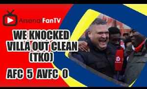 We Knocked Villa Out Clean (TKO) - Arsenal 5 Aston Villa 0 [Video]