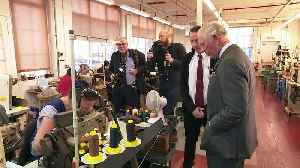 Prince Charles visits Northampton Shoe Factory [Video]