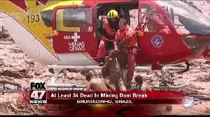 34 dead and hundreds missing in Brazil dam collapse, fire department says [Video]