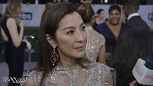 'Crazy Rich Asians' Star Michelle Yeoh on SAG Awards Red Carpet 2019 [Video]