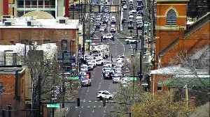 Two Denver Police officers injured after shots fired at 6th Ave. and Inca St.; suspect in custody [Video]