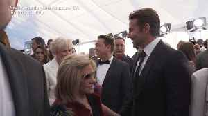 Right Now: Bradley Cooper and Mom on the SAG Awards Red Carpet [Video]