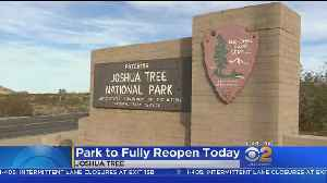 Joshua Tree National Park To Reopen Today [Video]