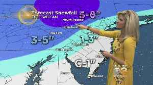Midday Weather Forecast: How Much Snow Falls Tuesday [Video]