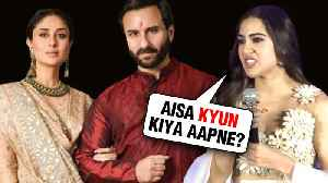 Sara Ali Khan SHOCKING REACTION On Saif Ali Khan And Amrita Singh DIVORCE [Video]