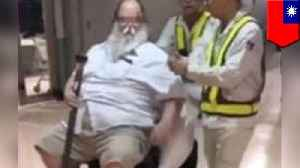Fat American who traumatized attendant is flying back to Taipei [Video]