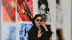 Watch: Rekha's reaction after she poses in front of Amitabh Bachchan's photo [Video]