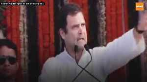 Rahul Gandhi promises universal basic income for poors [Video]