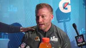 Los Angeles Rams head coach Sean McVay talks about New England Patriots HC Bill Belichick's text messages to him [Video]