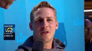 Los Angeles Rams quarterback Jared Goff reveals one piece of advice he'd like to ask New England Patriots QB Tom Brady before fi [Video]