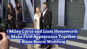 Miley And Liam Make First Post Wedding Appearance Together [Video]
