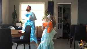 Son & Dad Dance to 'Let It Go' From Frozen [Video]