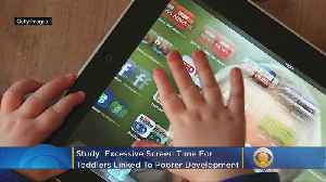 More Screen Time For Toddlers Is Tied To Poorer Development A Few Years Later, Study Says [Video]