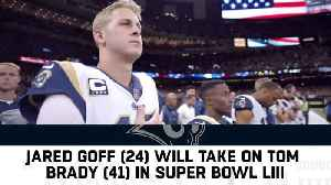 Los Angeles Rams quarterback Jared Goff said as a rookie the player he'd most like to face in the NFL was New England Patriots q [Video]
