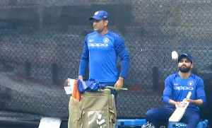 MS Dhoni takes centre stage as India prepare for 4th ODI [Video]