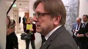 Verhofstadt: The backstop is needed as insurance [Video]