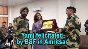 Yami felicitated by BSF in Amritsar [Video]
