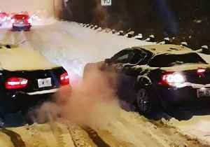 Drivers Spin Out After Snow Squall Hits Toronto Causing Travel Disruptions [Video]