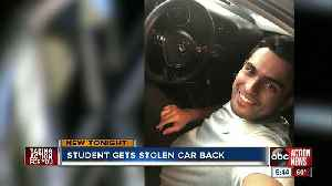 Stolen car returned to USF student [Video]