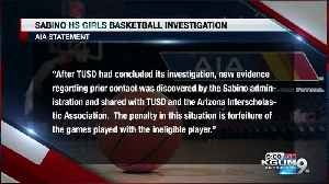 News video: Sabino high school girls basketball to forfeit games because of ineligible player