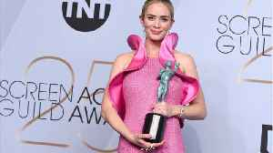 Emily Blunt Wins SAG Award for Outstanding Supporting Actress [Video]