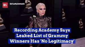 A Supposed Leaked Grammy Winner List Was Just Fake News [Video]