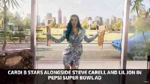 Cardi B, Steve Carell And Lil Jon In Pepsi Super Bowl Ad [Video]