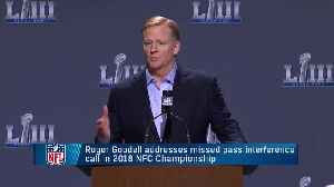 NFL Commissioner Roger Goodell addresses controversial no-call in NFC Championship Game [Video]