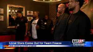 Local Stars Come out for Team Freeze [Video]