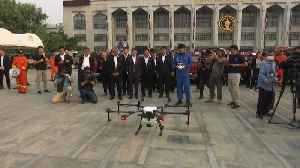 In fight against pollution, Bangkok deploys drones to spray water [Video]