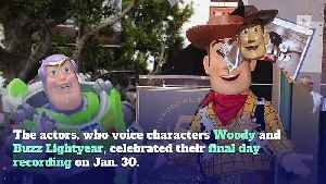 Tom Hanks and Tim Allen Finish Recording 'Toy Story 4' [Video]